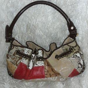 Bebe Patchwork Satchel Bag